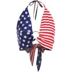 ZAFUL Tied Back American Flag Bralette Top