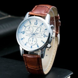 Analog Dial Plate PU Leather Quartz Watch found on Bargain Bro Philippines from zaful for $7.43