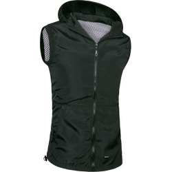Zipper Flying Hooded Casual Vest For Men