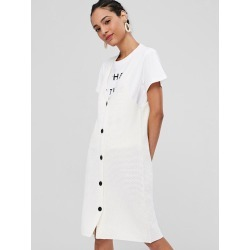 V Neck Button Up Sweater Dress found on MODAPINS from Zaful for USD $24.02
