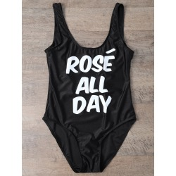 Scoop Neck Rose All Day Swimsuit