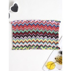 Smocked Zig Zag Bandeau Top found on MODAPINS from Zaful for USD $10.11
