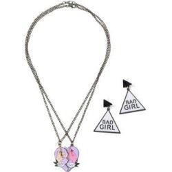 Best Buds Heart Geometric Jewelry Set