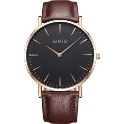 Faux Leather Analog Quartz Wrist Watch
