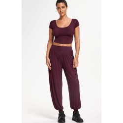 Cropped Top with Bloomer Pants Gym Suit