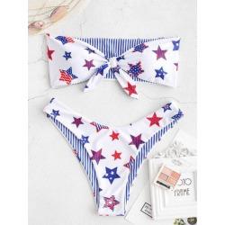 ZAFUL American Flag Reversible Bandeau Bikini Swimsuit