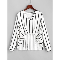Stripes High Low Blouse