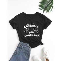 Basic AWESOME Graphic T Shirt