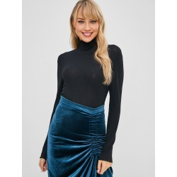 Turtleneck Backless Crop T shirt found on MODAPINS from Zaful for USD $18.60