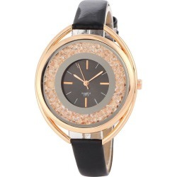 Faux Leather Band Rhinestone Quartz Watch found on Bargain Bro Philippines from zaful for $9.12