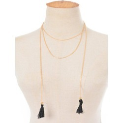 Alloy Tassel Chain Necklace