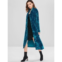 Crushed Velvet Duster Coat found on MODAPINS from Zaful for USD $34.99