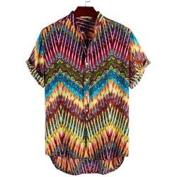 Tie Dye Print High Low Shirt