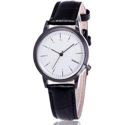 Faux Leather Analog Wrist Watch
