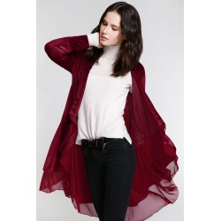 Swingy Velvet Coat