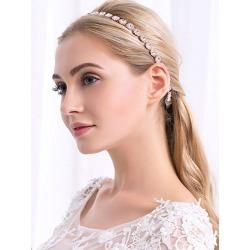 Sparkly Rhinestone Ribbon Wedding Hair Accessory