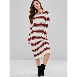 Midi Shift Striped Sweater Dress found on MODAPINS from Zaful for USD $28.75