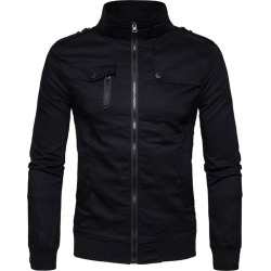 Stand Collar Zip Up Jacket