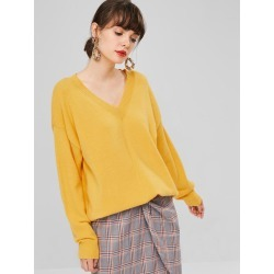 Oversized V Neck Sweater found on MODAPINS from Zaful for USD $26.49