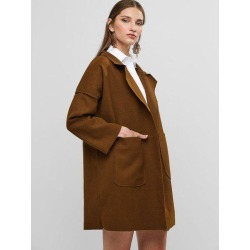 Open Front Wool Blend Coat found on Bargain Bro India from Zaful for $22.21