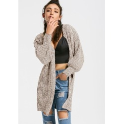 Open Front Heathered Cardigan