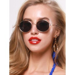 Oval Metal Retro Sunglasses