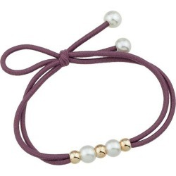 Multilayered Faux Pearl Elastic Hair Band