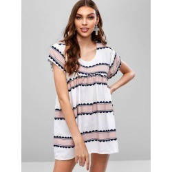 Casual Stripes Tunic Dress