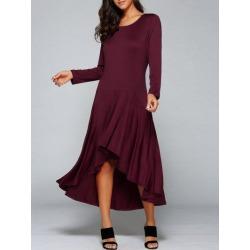 High Low Long Sleeve Dress