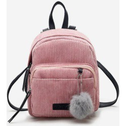 Canvas Fuzzy Ball Small Backpack found on Bargain Bro Philippines from Zaful for $18.74