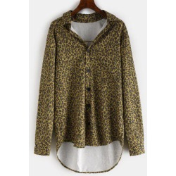 Leopard High Low Shirt