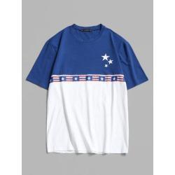 American Flag Colorblock T-shirt