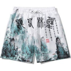 Ink Painting Print Oriental Casual Shorts found on MODAPINS from Zaful for USD $24.49