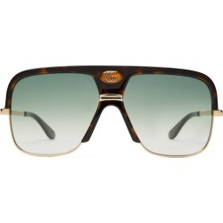 Gg Aviator-Frame Tortoiseshell-Acetate Sunglasses found on Bargain Bro India from The List for $424.00