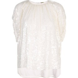 White Women's Sequin Embroidered Top
