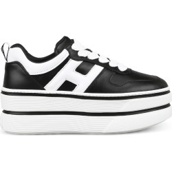 H449 Black And White Sneakers