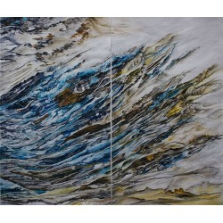 Quartz 2, Original, Acrylic Paint On Paper, Diptych, 2 Pieces Sold Together.