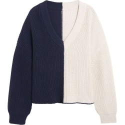 Navy And Off-White Sweater found on Bargain Bro India from The List for $298.00
