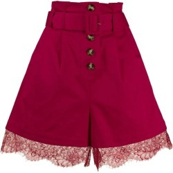 Lace Trim Belted Shorts found on Bargain Bro India from The List for $245.00