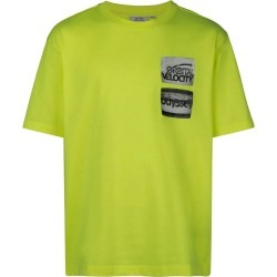 Yellow Men's Neon Digital Print T-Shirt