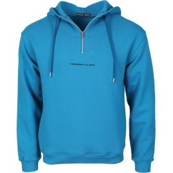 Blue Men's Copyright Graphic Hoodie