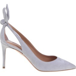 Deneuve Pump In Gray Suede