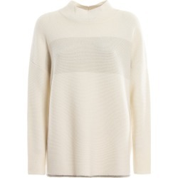 Embellished Hem Wool Blend Sweater