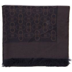 Gancini Two Colors Wool Male Scarf