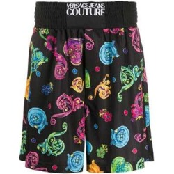Black 'Baroque Jewels' Print Shorts found on Bargain Bro India from The List for $223.00
