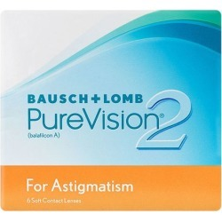PUREVISION 2 TORIC -4,00 -1,25 180 8.9 06PACK INC found on Bargain Bro from GrandVision for USD $97.17
