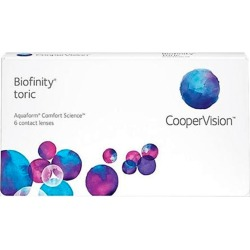 BIOFINITY TORICA +0,25 -2,25 100 8.7 06PACK INC found on Bargain Bro from GrandVision for USD $90.46