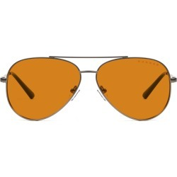 Maverick Prescription (Frame Color: Gunmetal, Prescription Lens: Single Vision, Lens Tint: Amber Max)
