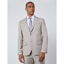 Men's Slim Fit Italian Suit Jacket in Stone Size 40 1913 Collection Wool Hawes & Curtis