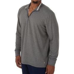 Polo Ralph Lauren PP08HR Knit Sleepwear 1 4 Zip Boulder Grey Heather M